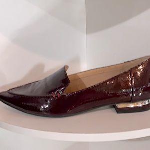 LN Franco Sarto merlot patent leather loaf…